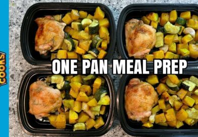 How to Meal Prep – Ep. 63 –  ONE PAN ROAST CHICKEN AND SQUASH ($3/Meal)